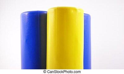 cylindre, jouet, plastique