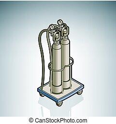 cylindre, oxygène