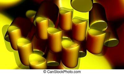 cylindres, jaune