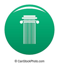 Cylindrical column icon green - Cylindrical column icon....