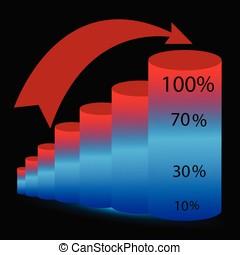 cylindrical diagram vector