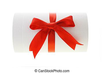 Cylindrical shape gift box