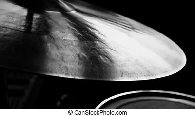 Cymbal being played