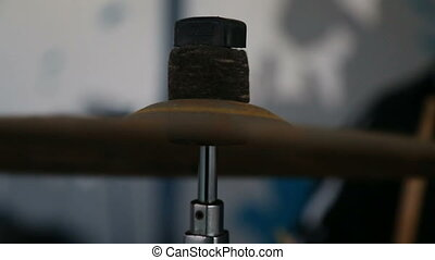 cymbals and drums two shots
