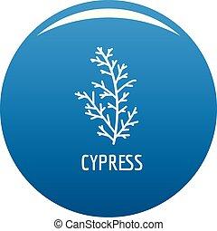 Cypress leaf icon blue vector - Cypress leaf icon vector ...