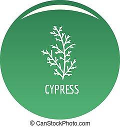 Cypress leaf icon vector green - Cypress leaf icon. Simple ...