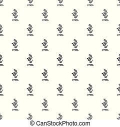 Cypress leaf pattern seamless vector repeat geometric for ...
