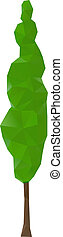 Cypress trees - Green cypress trees, vector illustration