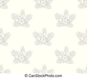 Cypress Vine Flower Outline Pattern - Ipomoea Quamoclit -...