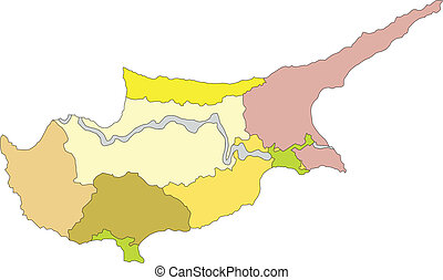 Cyprus, Administrative Districts
