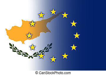 Cyprus and European Union Flag