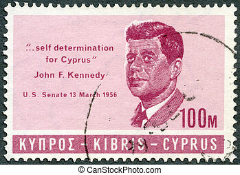 CYPRUS - CIRCA 1965: A stamp printed in Cyprus shows...