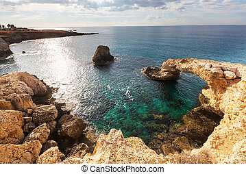 Cyprus coast - Beautiful sea shore in Cyprus