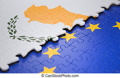 Cyprus European Union Puzzle Flag