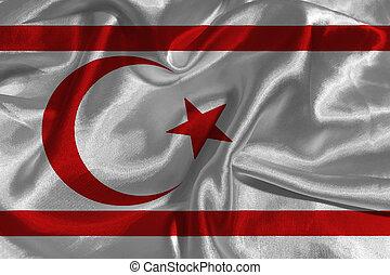cyprus flag 3D illustration symbol
