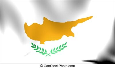 Cyprus Flag. Background Seamless Looping Animation. 4K High Definition Video.