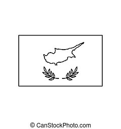 Cyprus flag icon, outline style