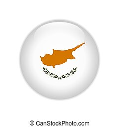 Cyprus flag on button