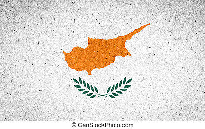 Cyprus flag on paper background