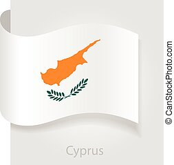 Cyprus flag, vector illustration