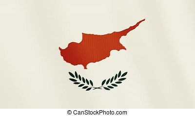 Cyprus flag waving animation. Full Screen. Symbol of the country.
