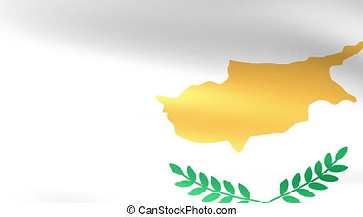 Cyprus Flag Waving