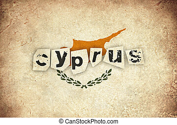 Cyprus grunge flag background illustration of european country