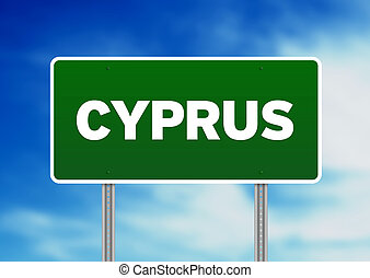 Cyprus Highway Sign