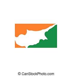 cyprus map logo vector icon symbol