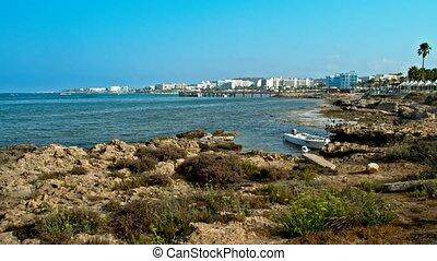 Cyprus - Mediterranean Sea coast. Sea Caves near Ayia Napa....