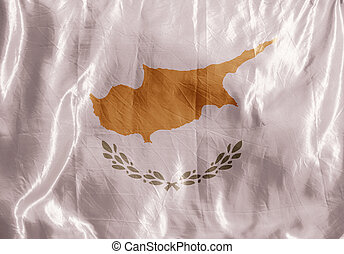 Cyprus - State flag fluttering in the wind. Colored ...