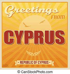Cyprus vintage poster