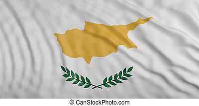 Cyprus waving flag background. 3d illustration
