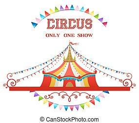 cyrk, ilustracja