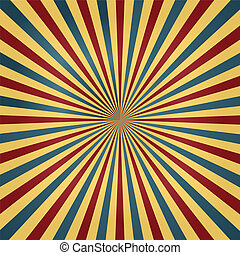 cyrk, kolor, sunburst, tło