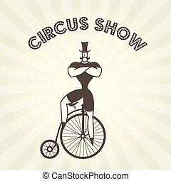 cyrk, rower, strongman, pens, -, aktor, farthing, retro, ...