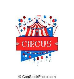 cyrkowy namiot, znak