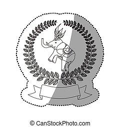 cyrkowy słoń, rysunek