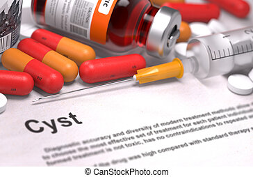 Cyst Diagnosis. Medical Concept.