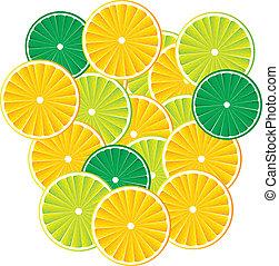 cytrusowy owoc, tło, wektor