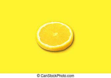 cytryna, żółty, kromka