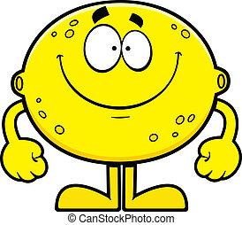 cytryna, rysunek, uśmiechanie się