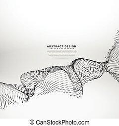 cząstka, abstrakcyjny, dynamiczny, machać, wektor, tło