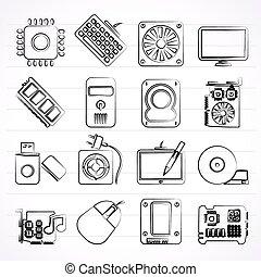 część, komputerowe ikony
