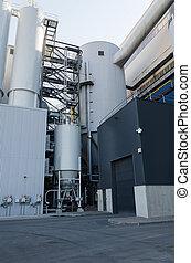 część, przemysłowy, dostarczcie energii elektrycznej roślinę, albo, factory.