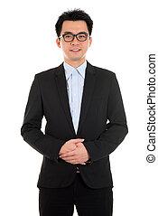 człowiek, asian handlowy