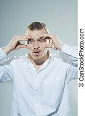 człowiek, ból głowy