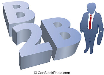 człowiek, ecommerce, handlowy, b2b