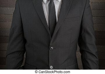 człowiek, garnitur