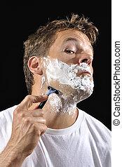 człowiek, golenie